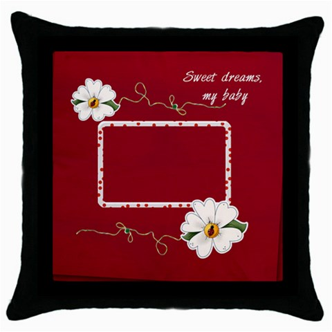 Sweet Dreams Pillow By Elena Petrova   Throw Pillow Case (black)   D4yfjn3ovxys   Www Artscow Com Front