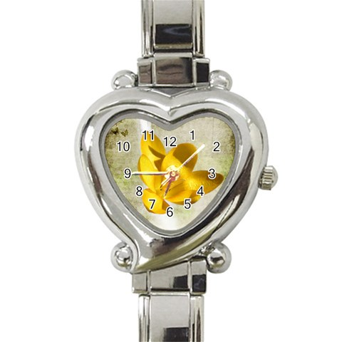 Flower Watch By Elena Petrova   Heart Italian Charm Watch   Eud3jl0f9g9x   Www Artscow Com Front