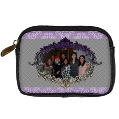 Purple & Gray Digital Camera Leather Case By Klh   Digital Camera Leather Case   Xy35vmusl3va   Www Artscow Com Front