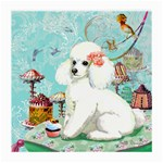 Wht Poodle Bon Bon Treats Squared Copy Glasses Cloth (Medium)
