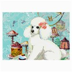 Wht Poodle Bon Bon Treats Squared Copy Glasses Cloth (Large)