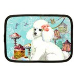 Wht Poodle Bon Bon Treats Squared Copy Netbook Case (Medium)