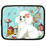 Wht Poodle Bon Bon Treats Squared Copy Netbook Case (Large)