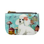 Wht Poodle Bon Bon Treats Squared Copy Mini Coin Purse