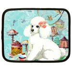 Wht Poodle Bon Bon Treats Squared Copy Netbook Case (XL)
