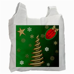 Secret Santa Or Christmas Gift Bag By Deborah   Recycle Bag (two Side)   Zlbx4ut5evfb   Www Artscow Com Front