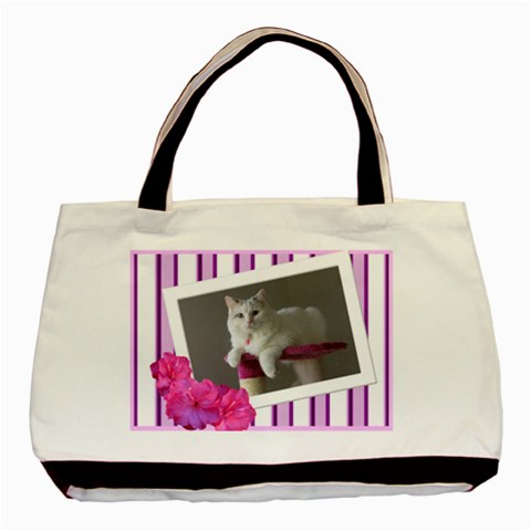 Candy Stripe Tote By Deborah   Basic Tote Bag   2xyztb3n3py1   Www Artscow Com Front