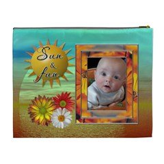 Summer Breeze Xl Cosmetic Bag By Lil    Cosmetic Bag (xl)   3b3tvrvee77e   Www Artscow Com Back