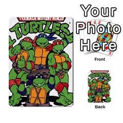 Tmnt Turtle Deck By Daniel Chick   Multi Purpose Cards (rectangle)   180347   Www Artscow Com Back 52
