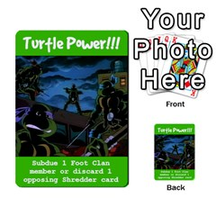Tmnt Turtle Deck By Daniel Chick   Multi Purpose Cards (rectangle)   180347   Www Artscow Com Front 16