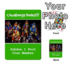 Tmnt Turtle Deck By Daniel Chick   Multi Purpose Cards (rectangle)   180347   Www Artscow Com Front 22