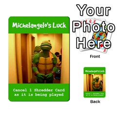 Tmnt Turtle Deck By Daniel Chick   Multi Purpose Cards (rectangle)   180347   Www Artscow Com Front 23