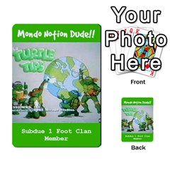 Tmnt Turtle Deck By Daniel Chick   Multi Purpose Cards (rectangle)   180347   Www Artscow Com Front 28
