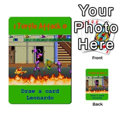 Tmnt Turtle Deck By Daniel Chick   Multi Purpose Cards (rectangle)   180347   Www Artscow Com Front 38