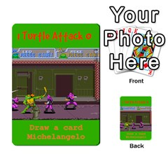 Tmnt Turtle Deck By Daniel Chick   Multi Purpose Cards (rectangle)   180347   Www Artscow Com Front 45