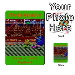 Tmnt Turtle Deck By Daniel Chick   Multi Purpose Cards (rectangle)   180347   Www Artscow Com Front 49