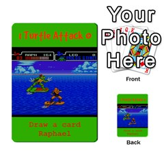 Tmnt Turtle Deck By Daniel Chick   Multi Purpose Cards (rectangle)   180347   Www Artscow Com Front 50