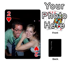 Steve And Amy By Benjamin   Playing Cards 54 Designs   38pygx3brbdb   Www Artscow Com Front - Heart2