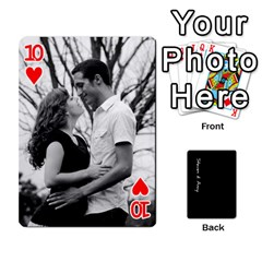 Steve And Amy By Benjamin   Playing Cards 54 Designs   38pygx3brbdb   Www Artscow Com Front - Heart10