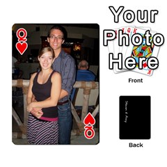 Queen Steve And Amy By Benjamin   Playing Cards 54 Designs   38pygx3brbdb   Www Artscow Com Front - HeartQ