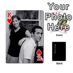 King Steve And Amy By Benjamin   Playing Cards 54 Designs   38pygx3brbdb   Www Artscow Com Front - HeartK