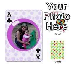 Ace My Cards Baloon By Galya   Playing Cards 54 Designs   Ldapdjupu8vj   Www Artscow Com Front - ClubA
