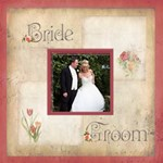 Bride & Groom Rosa Botanica 20 inch canvas - Canvas 20  x 20