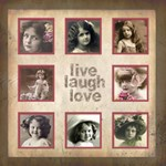 Live Laugh Love Cocoa Botanica 20 inch canvas - Canvas 20  x 20