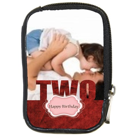 Happy Birthday By Joely   Compact Camera Leather Case   Wex5p083h697   Www Artscow Com Front