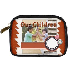 Our Chlidren By Joely   Digital Camera Leather Case   B54il4n93g8h   Www Artscow Com Front