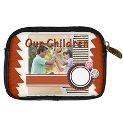 Our Chlidren By Joely   Digital Camera Leather Case   B54il4n93g8h   Www Artscow Com Back