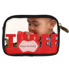Happy Birthday By Joely   Digital Camera Leather Case   Nn1k1ls7o110   Www Artscow Com Back