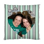 Silver and Green Love Cushion (2 sided) - Cushion Case (Two Sides)