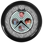 Summer Sophisticate Black Wall Clock - Wall Clock (Black)