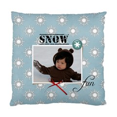 Cushion Case (two Sides): Snow Fun By Jennyl   Standard Cushion Case (two Sides)   T06ybtkt3lqg   Www Artscow Com Front