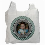 Summer Sophisticate Blue & Gray Recycle Bag - Recycle Bag (One Side)