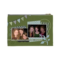 Summer Sophisticate Large Cosmetic Bag By Klh   Cosmetic Bag (large)   87slofvwhj3c   Www Artscow Com Back