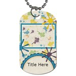 Tutti-Frutti Splat Tag - Dog Tag (One Side)
