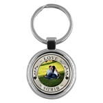 Love Birds Round Key Chain - Key Chain (Round)