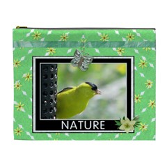 Nature Xl Cosmetic Bag By Lil    Cosmetic Bag (xl)   Iusxtqkzt0qd   Www Artscow Com Front