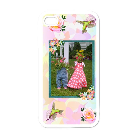 Pretty Pastel Iphone 4 Case By Kim Blair   Apple Iphone 4 Case (white)   06nj8ivs43tu   Www Artscow Com Front