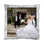 Lovely Day Wedding Cushion Double Sided - Cushion Case (Two Sides)
