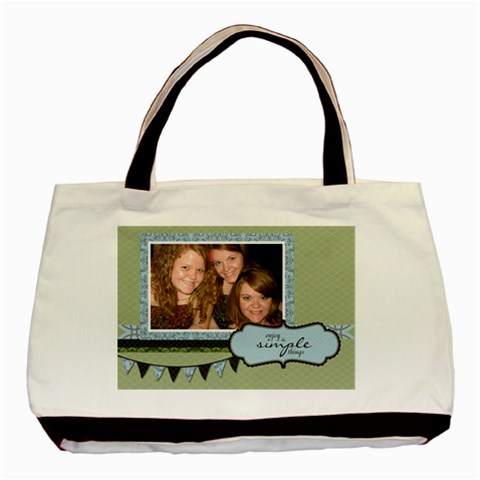 Enjoy The Simple Things Tote Bag By Klh   Basic Tote Bag   Umqafcetox3g   Www Artscow Com Front