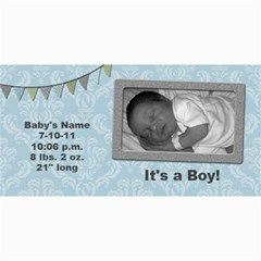 Summer Sophisticate Baby Boy Birth Announcements By Klh   4  X 8  Photo Cards   Wzggqvum19qo   Www Artscow Com 8 x4 Photo Card - 10