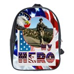 My Hero US Military  large school bag back pack - School Bag (Large)