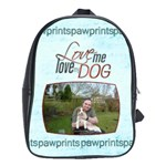 Love me Love my Dog Large School Bag Back Pack - School Bag (Large)