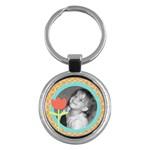 sunshiny day keychain - Key Chain (Round)