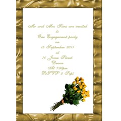 General Purpose Announcement And Invitation Card By Deborah   Greeting Card 5  X 7    Dmvk4hk55aap   Www Artscow Com Back Inside