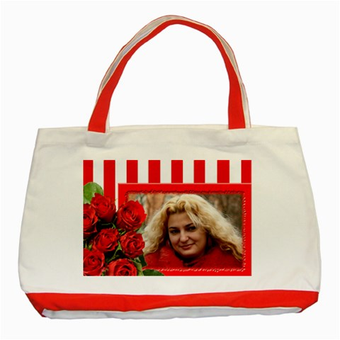 Red Rose Tote Bag By Deborah   Classic Tote Bag (red)   5gt4bd3usqjz   Www Artscow Com Front