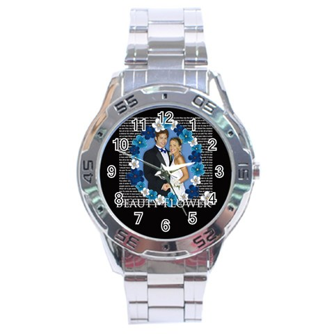 Flower By Joely   Stainless Steel Analogue Watch   Fy96n2ij7zis   Www Artscow Com Front